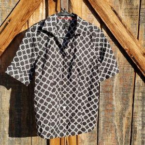 Talbots Black Buttom Down Shirt Elegant Size 4
